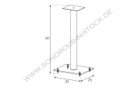 Sonorous Speaker Stand - Sonorous - SP 100-C-HBLK